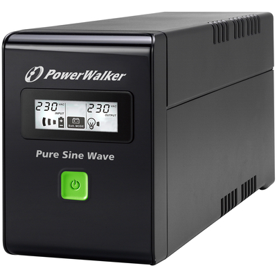 PowerWalker VI 600 SW UPS - Zwart