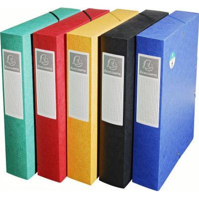 Exacompta archiefdoos: Karton, 7/10è, A4, 24x32cm, Multi - Veelkleurig