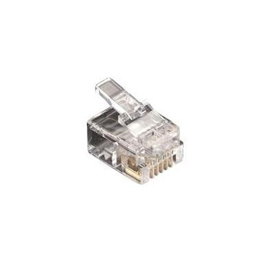Black Box RJ-11 Modular Connector, 6-Wire, 25-Pack Kabel connector - Transparant