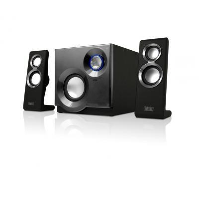Sweex luidspreker set: 2.1 Speaker System Purephonic 60 Watt Silver - Zwart, Zilver