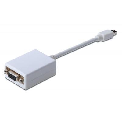 Digitus 0.15m HD15/mini DisplayPort - Wit