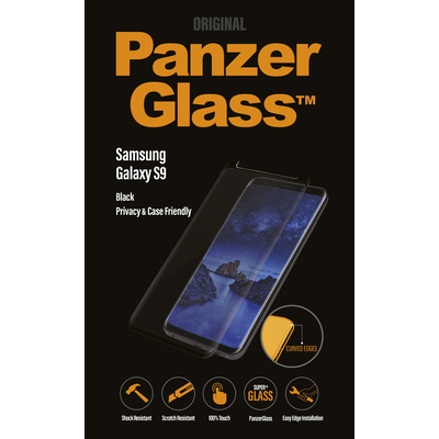 PanzerGlass Samsung Galaxy S9 Curved Edges Privacy Screen protector - Transparant