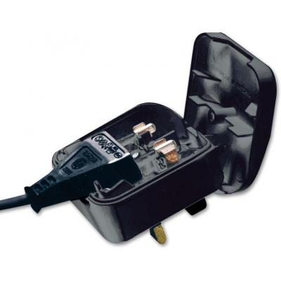 Microconnect Euro to UK Converter Plug Elektrische stekker - Zwart