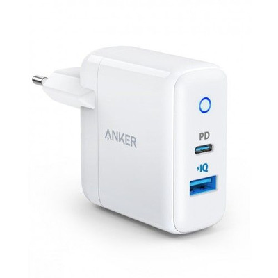 Anker PowerPort PD+2 , 33W, USB-C , Type-C, PowerIQ 2.0, white Oplader - Wit