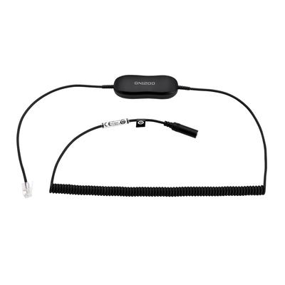 Jabra GN1200 Smart Cord with 3.5 mm Jack modular plug Koptelefoon accessoire - Zwart