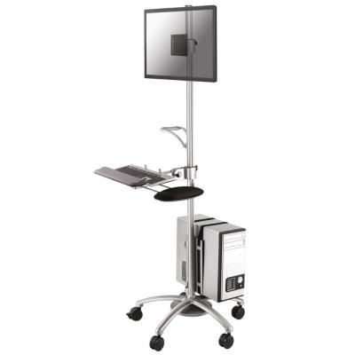 "Newstar multimedia kar & stand: Mobile Work Station Floor Stand for monitor (10""-27""), keyboard, mouse & PC - ....."