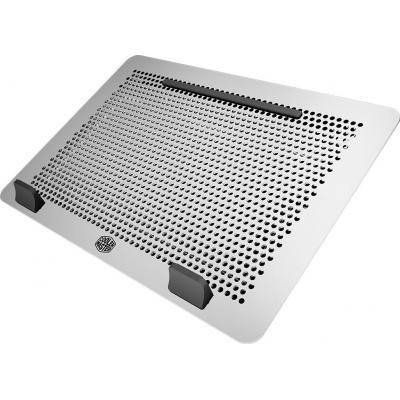 Cooler master notebook koelingskussen: 17'', 1.27 kg, 2000 rpm, 15.42 c FM x 2, 0.85 mmH2O x 2, 27.24 dBA, 0.25 A x 2, .....