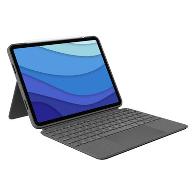 Logitech Combo Touch for iPad Pro 11-inch (1st, 2nd, and 3rd generation) - QWERTY Mobile device keyboard - Grijs