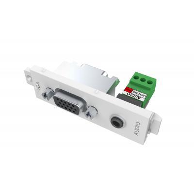 Vision wandcontactdoos: VGA+3.5mm (0.14″) D module - Wit
