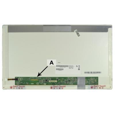 "2-power notebook reserve-onderdeel: 43.942 cm (17.3 "") HD+ 1600x900 LED Glossy - Zwart"