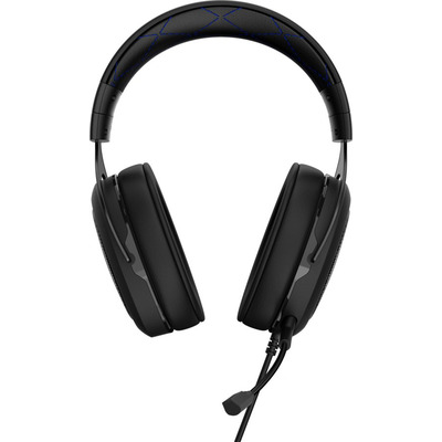 Corsair headset: HS50 - Zwart, Blauw