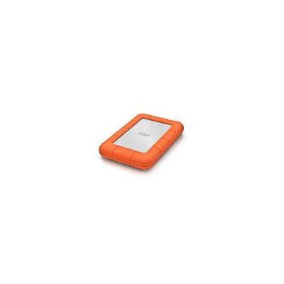 Lacie externe harde schijf: Rugged Mini 500GB - Oranje, Zilver