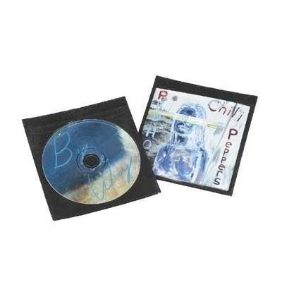 Hama : CD-/DVD-Schutzhüllen 50, Schwarz - Zwart