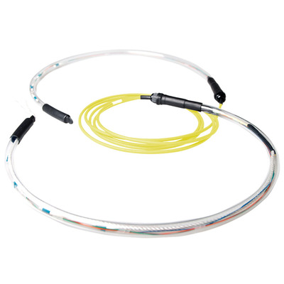 ACT 200 meter Singlemode 9/125 OS2 indoor/outdoor kabel 8 voudig met LC connectoren Fiber optic kabel