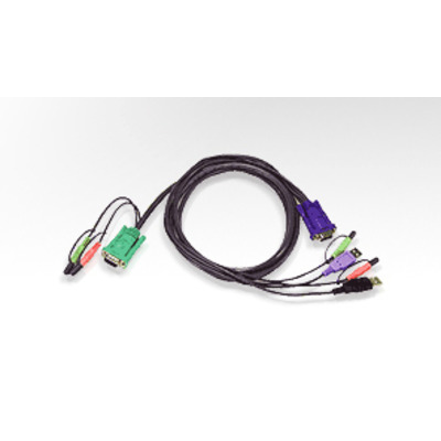 Aten KVM kabel: USB KVM Cable - Zwart