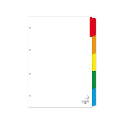 Kangaro Tabblad A4 blanco karton 190grs wit 4r 5dlg Indextab