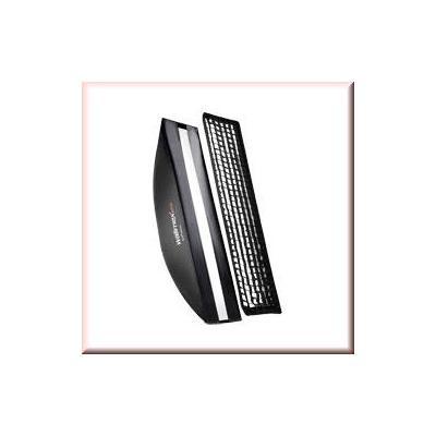 Walimex softbox: pro Softbox PLUS OL 22x90cm Visatec - Zwart, Wit
