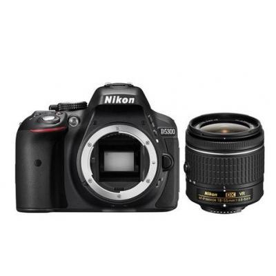 Nikon digitale camera: D5300 +  AF-P 18-55mm VR - Zwart