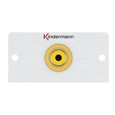Kindermann 7444000503 Wandcontactdoos - Aluminium