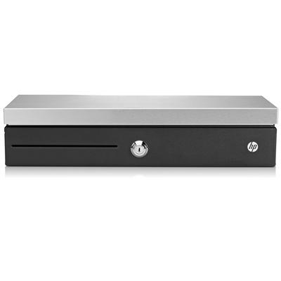 HP Flip Top Till with Locking Cover Geldkist - Zwart, Zilver