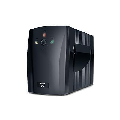 Ewent UPS: Line Interactive UPS 720VA met AVR, 360W, 230V, 2 x IEC C13 Out, 4.6Kg - Zwart
