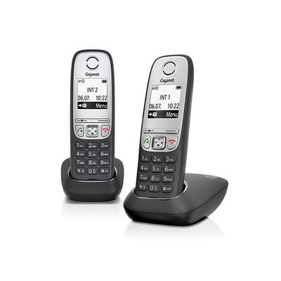 Gigaset A415 Duo Dect telefoon - Zwart, Zilver