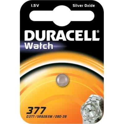 Duracell batterij: 377 - Roestvrijstaal