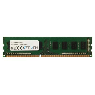 V7 2GB DDR3, PC3-10600, 1333mhz RAM-geheugen - Groen