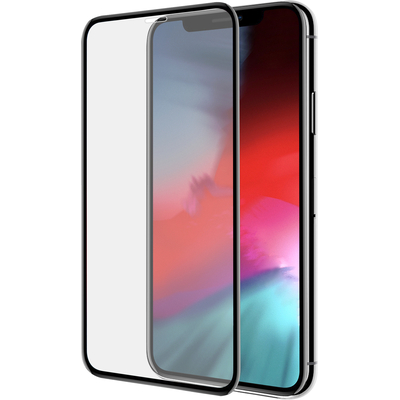 Azuri Curved Tempered Glass RINOX ARMOR - zwart frame - voor iPhone Xs Max/11 Pro Max FG Screen protector - Zwart, .....