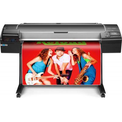 Hp grootformaat printer: Designjet Z5600 44-in PostScript - Chromatisch rood, Cyaan, Magenta, Mat Zwart, Foto zwart, .....