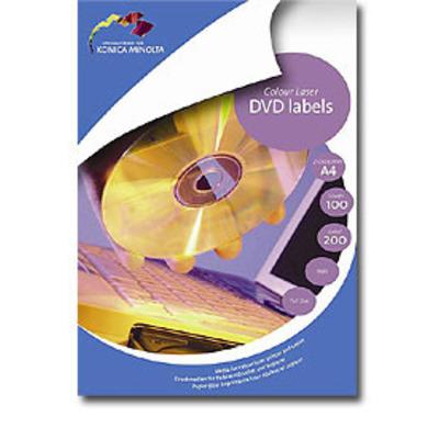 Konica Minolta CD/DVD labels 100 sheets Etiket - Wit