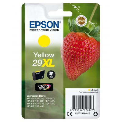 Epson inktcartridge: Single pack Yellow 29XL Claria Home Ink - Geel