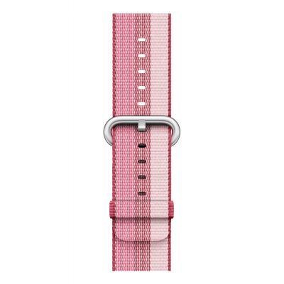 Apple : Bandje van geweven nylon - Bessenrood (42 mm) - Roze, Violet