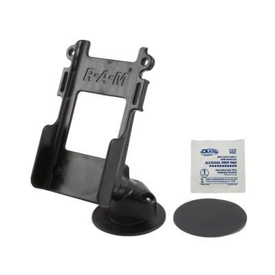 RAM Mounts Flex Adhesive Dashboard Mount, w/ Belt Clip Adapter - Zwart