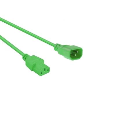 EECONN Netsnoer, C14 - C13, 3x 1.00mm², Groen, 3m Electriciteitssnoer