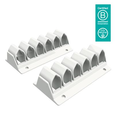 Dataflex Addit kabelgolf 300, wit Kabelklem