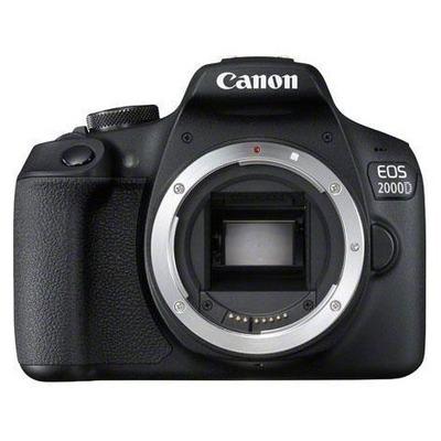 Canon EOS 2000D + EF-S 18-55mm f/3.5-5.6 III Digitale camera - Zwart