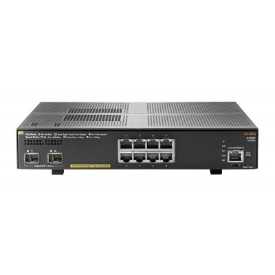 Hewlett packard enterprise Aruba 2930F-8G-PoE+-2SFP+ switch - Grijs