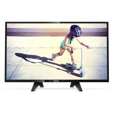 """Philips led-tv: 4000 series 81.28 cm (32 """") HD LED (1366x768), 280 cd/m², 16W RMS, 2x HDMI, 4.8kg - Zwart"""