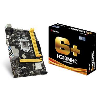 Biostar H310MHC, Intel H310, LGA 1151, 2x DDR4, SATA III, USB 3.1, 1x PCI-E 3.0 x16, 2x PCI-E 2.0 x1, PS/2, RJ-45, HDMI, VGA, Micro ATX, 226x171 mm
