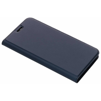 Slim Softcase Booktype iPhone Xs Max - Blauw / Blue Mobile phone case