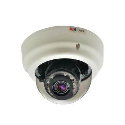 "Acti beveiligingscamera: 3MP, 1/3"" CMOS, 30 fps, 1920 x 1080, 0lx - Zwart, Wit"