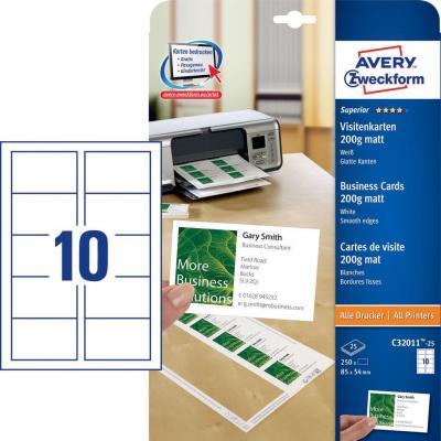 Avery Zweckform C32011-25 Label - Wit