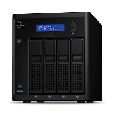 Western Digital My Cloud Pro EX4100 NAS - Zwart