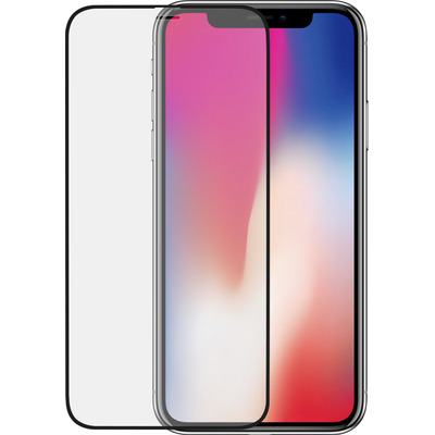 Azuri Tempered Glass flatt RINOX ARMOR - zwart frame - voor iPhone X/Xs/11 Pro FG Screen protector - Zwart, .....