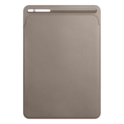 Apple tablet case: Leren Sleeve voor 10.5'' iPad Pro - Taupe