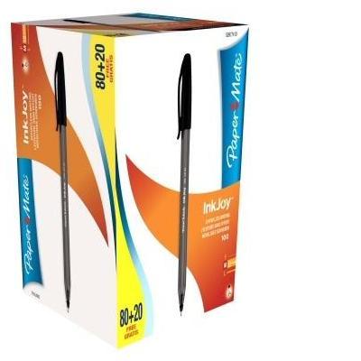 Papermate pen: Inkjoy 100 - Zwart, Doorschijnend