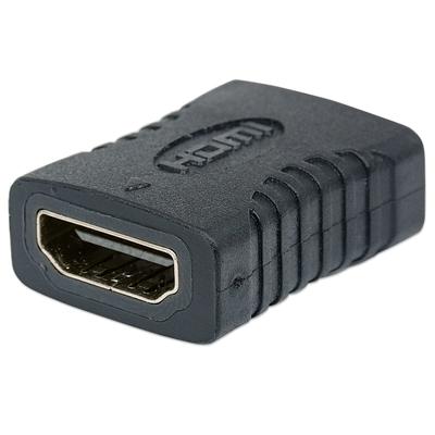 Manhattan HDMI Coupler, 4K, Female to Female, Straight connection, Polybag Kabel adapter - Zwart