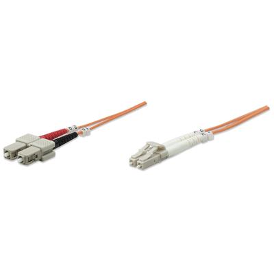 Intellinet Fibre Optic Patch Cable, Duplex, Multimode, LC/SC, 50/125 µm, OM2, 2m, LSZH, Orange Fiber optic .....