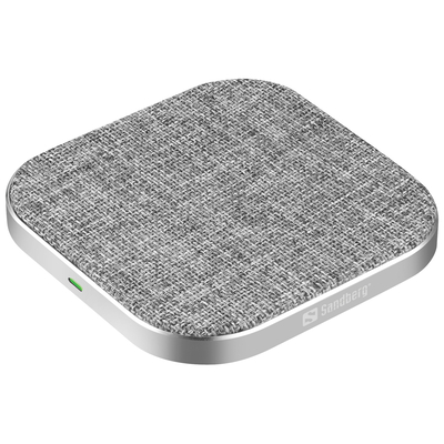 Sandberg Wireless Charger Pad 15W Oplader - Grijs